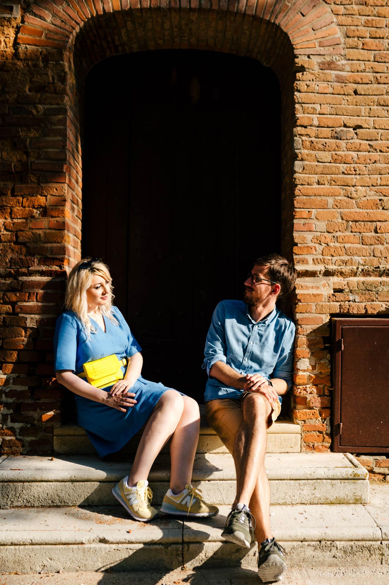 Sedinta foto de cuplu la Palatul Mogosoaia