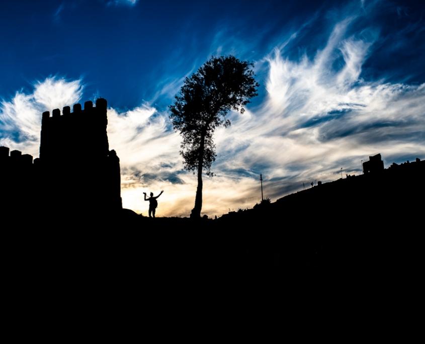 Apusul din cimitir. Nikon D4s, 35mm